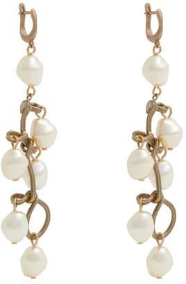 Marni Pearl-embellished drop earrings