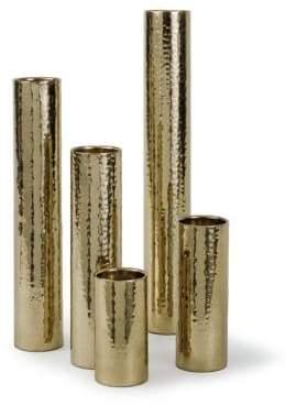 Regina-Andrew Design Regina Andrew Design Five-Piece Hammered Metallic Bud Vase Set