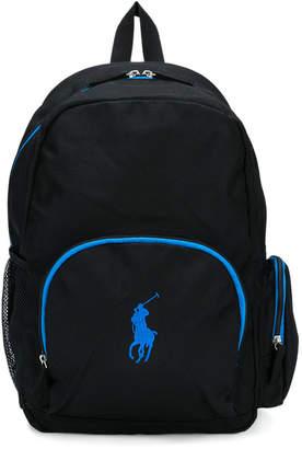 Ralph Lauren logo embroidered backpack
