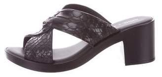 Baja East Melissa + Embossed Slide Sandals