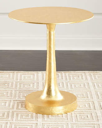 Arteriors Sasha Gold Leaf Side Table