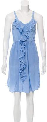 Rebecca Taylor Ruffle-Trimmed Silk Dress