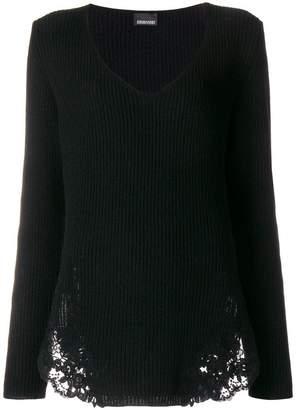 Ermanno Scervino lace detail jumper
