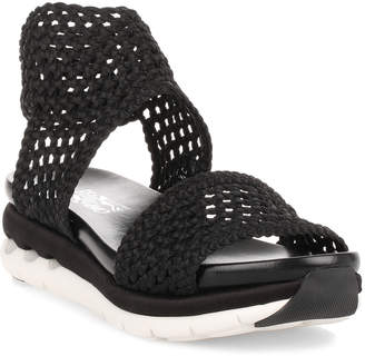 Salvatore Ferragamo Edam black braided sandal