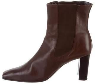 a. testoni a.testoni Leather Square-Toe Ankle Boots