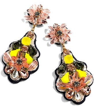 Women's J.crew Botanical Embroidered Drop Earrings $78 thestylecure.com