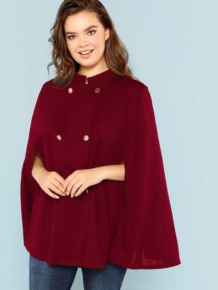 52077bfcad Double Breasted Cape Coat - ShopStyle