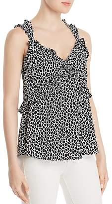 MICHAEL Michael Kors Giraffe Print Ruffled Camisole Top - 100% Exclusive