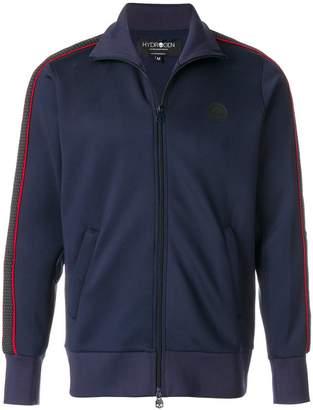 Hydrogen side-stripe zipped sweatshirt