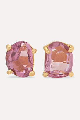 Pippa Small 18-karat Gold Spinel Earrings - Pink