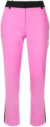 Diane von Furstenberg contrast tailored trousers