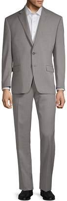 Lauren Ralph Lauren Men's Birdseye Taupe Slim-Fit Two-Piece Suit