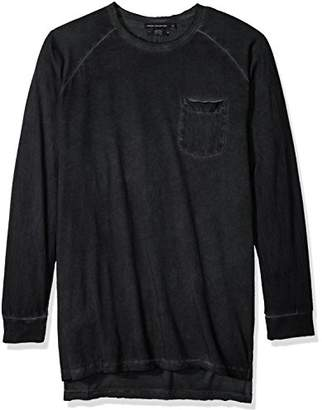 French Connection Men's Cold Pigment Dye Jersey Longsleeve