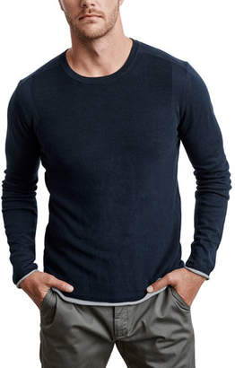 Velvet by Graham & Spencer Men's Yuma Silk-Blend Crewneck Sweater