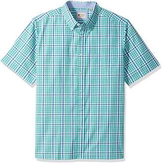 Haggar Men's Big&Tall Short Sleeve Poplin Woven Shirt