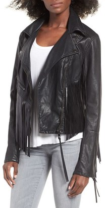Women's Blanknyc Faux Leather Moto Jacket $138 thestylecure.com