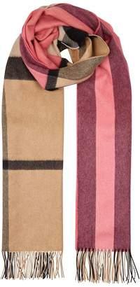 Burberry Colour Block Cashmere Scarf