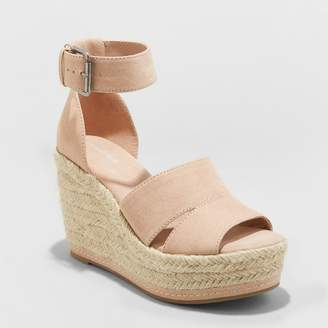 Universal Thread Women's Caroline Microsuede Ankle Strap Espadrille Wedge