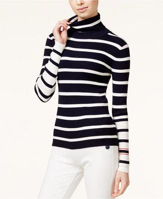 TOMMYXGIGI Striped Turtleneck Sweater $125 thestylecure.com