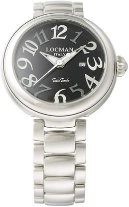 Locman (ロックマン) - LOCMAN ラウンドウォッチ デイト表示 ケース:ブラック ベルト:シルバー