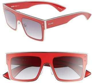 Moschino 54mm Polarized Flat Top Sunglasses