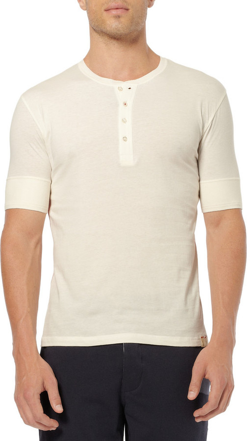 Paul Smith Cotton-Jersey Pyjama Henley T-Shirt
