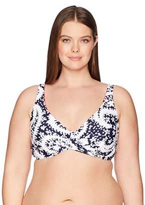Anne Cole Women's Plus-Size Over The Shouler Underwire Bikini Swim Top