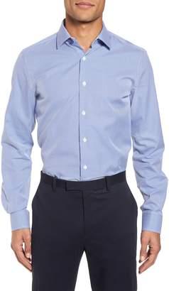 Duchamp Trim Fit Dot Dress Shirt