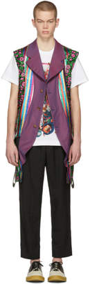 Comme des Garcons Reversible Multicolor Multi Fabric Vest