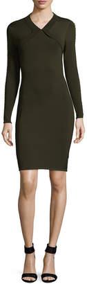 Shoshanna Embellished Sleeve Sheath Dress