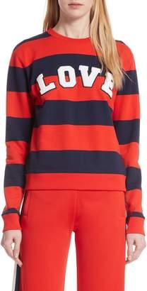 Tory Sport Love Stripe Sweatshirt
