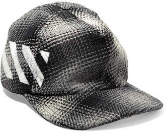 Off-White - Checked Cotton-blend Cap - Gray $170 thestylecure.com
