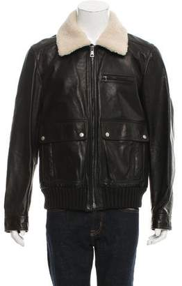 Gucci Leather Flight Jacket w/ Tags