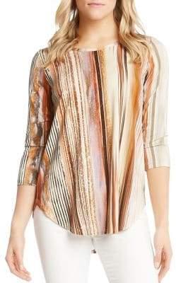 Karen Kane Desert Striped Shirttail Tee