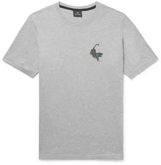 Paul Smith Printed Mélange Cotton-Jersey T-Shirt