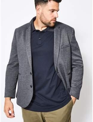 Burton - Big & Tall Navy Jersey Blazer