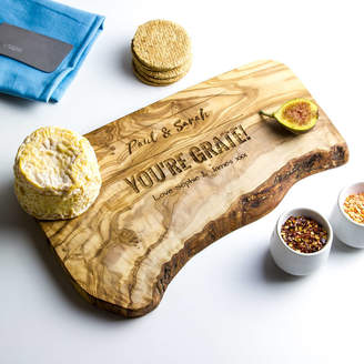 The Rustic Dish Personalised Raw Edge Cheese Board