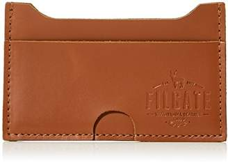 Filgate Genuine Leather Lateral Card Holder Wallet with Pull Tab Slot