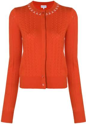 Carven stitched-collar fitted cardigan