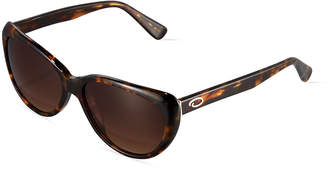 Oscar de la Renta O By Small Extreme Cat-Eye Sunglasses, Tortoise