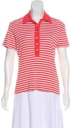 Tory Burch Stripe Short Sleeve Top