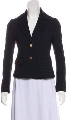 Tory Burch Wool-Blend Long Sleeve Blazer