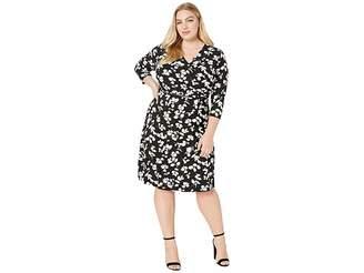 Lauren Ralph Lauren Plus Size Finchlina Shadow Leaves Dress