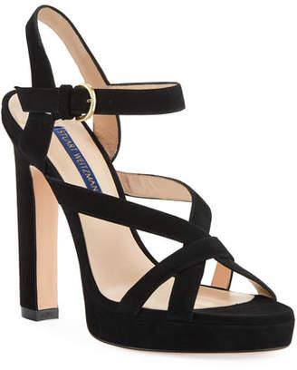 Stuart Weitzman Cersei Platform Suede Sandals