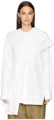 Yohji Yamamoto Y's by Z-Shoulder Woven Drape Blouse Women's Blouse
