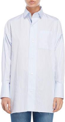 Each X Other Stripe Pattern Cotton Collar Shirt