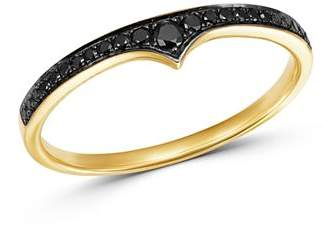 Bloomingdale's Black Diamond Stacking Band in 14K Yellow Gold, 0.10 ct. t.w. - 100% Exclusive