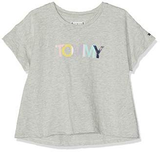 ac780544 Tommy Hilfiger Girl's Colored Tommy Logo S/s T-Shirt, (Light Grey