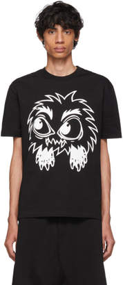 McQ Black Psycho Billy Dropped Shoulder T-Shirt