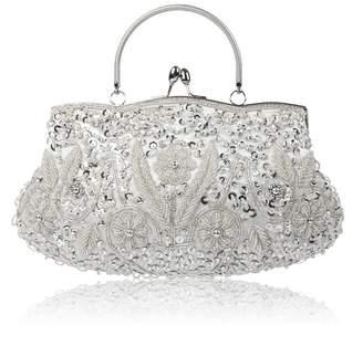 Tidbag Women's Vintage Evening Clutch Bags Beaded Sequin Wedding Purse Cocktail Handbag